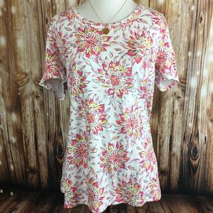 Charter Club Perfectly Soft Pima Floral Top